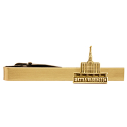 Seattle Washington Temple Tie Bar  - Gold