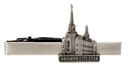 Brigham City Utah Temple Tie Bar - Silver