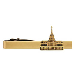 Idaho Falls Idaho Temple Tie Bar - Gold