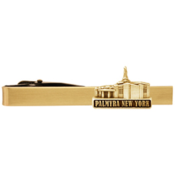 Palmyra New York Temple Tie Bar - Gold