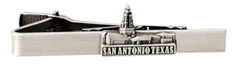 San Antonio Texas Temple Tie Bar - Silver