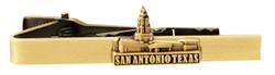 San Antonio Texas Temple Tie Bar - Gold