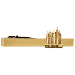 Salt Lake Temple Tie Bar - Gold
