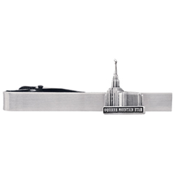 Oquirrh Mountain Utah Temple Tie Bar - Silver