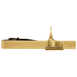 Oquirrh Mountain Utah Temple Tie Bar - Gold