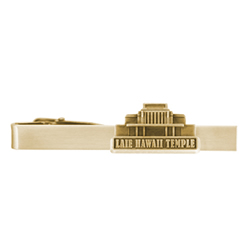 Laie Hawaii Temple Tie Bar - Gold