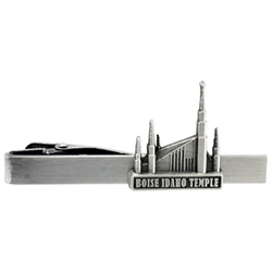 Boise Idaho Temple Tie Bar - Silver