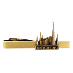 Boise IdahoTemple Tie Bar - Gold