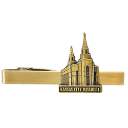 Kansas City Temple Tie Bar - Gold