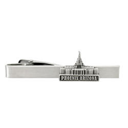 Phoenix Temple Tie Bar - Silver