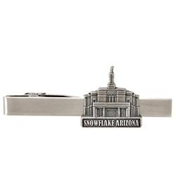 Snowflake Temple Tie Bar - Silver