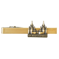 San Diego Temple Tie Bar - Gold
