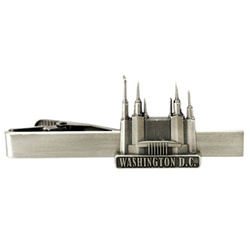 Washington D.C. Temple Tie Bar - Silver