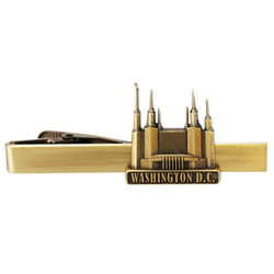 Washington D.C. Temple Tie Bar - Gold