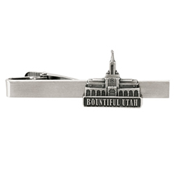 Bountiful Utah Temple Tie Bar - Silver