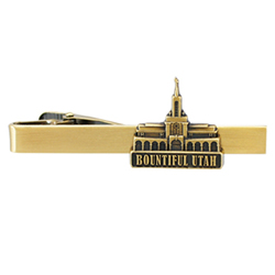 Bountiful Utah Temple Tie Bar - Gold