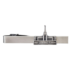 Fort Lauderdale Temple Tie Bar - Silver