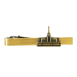 Fort Lauderdale Temple Tie Bar - Gold
