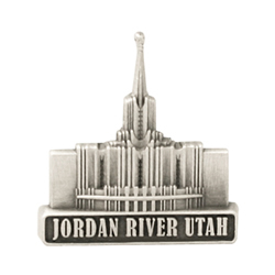 Jordan River Utah Temple Pin - Silver