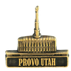 Provo Utah Temple Pin - Gold