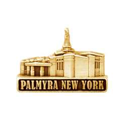 Palmyra New York Temple Pin - Gold
