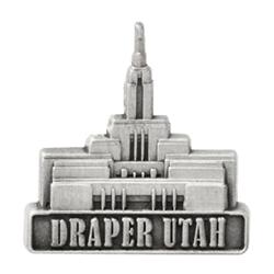 Draper Utah Temple Pin - Silver