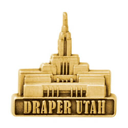 Draper Utah Temple Pin - Gold