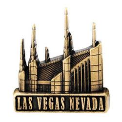 Las Vegas Temple Pin - Gold