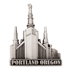 Portland Oregon Temple Pin - Silver