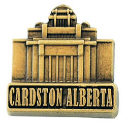 Cardston Alberta Temple Pin - Gold