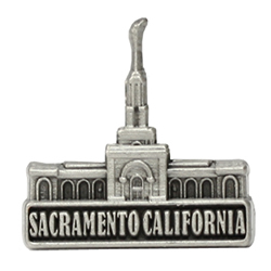 Sacramento California Temple Pin - Silver