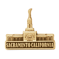 Sacramento California Temple Pin - Gold