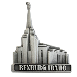 Rexburg Idaho Temple Pin - Silver