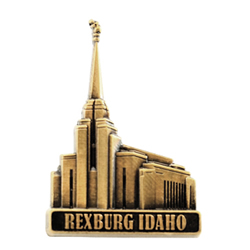 Rexburg Idaho Temple Pin - Gold