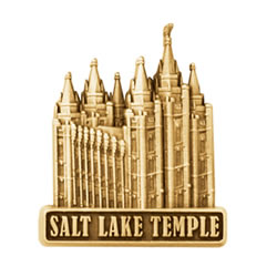 Gold Salt Lake Temple Pin