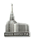 Oquirrh Mountain Temple Pin - Silver