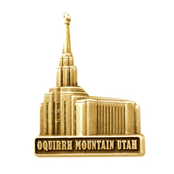 Oquirrh Mountain Temple Pin - Gold