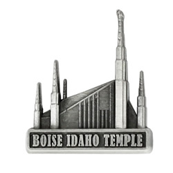 Boise Idaho Temple Pin - Silver