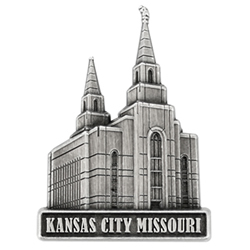 Kansas City Temple Pin - Silver