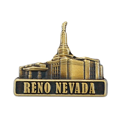 Reno Temple Pin - Gold