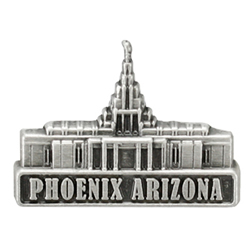 Phoenix Temple Pin - Silver