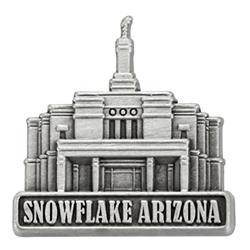 Snowflake Temple Pin - Silver