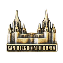 San Diego Temple Pin - Gold