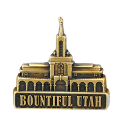 Bountiful Utah Temple Pin - Gold