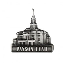Payson Temple Pin - Silver