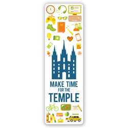 Make Time for the Temple Bookmark