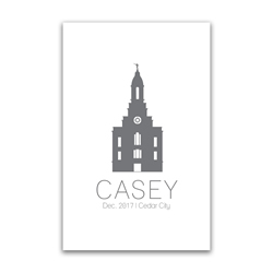 Personalized Temple Vector Poster - Outline