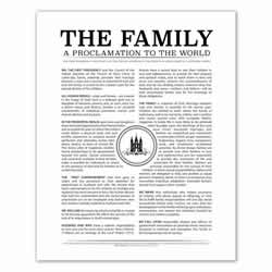 Temple Stamp Family Proclamation - Black - Printable