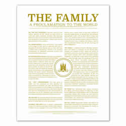 Temple Stamp Family Proclamation - Gold - Printable family proclamation, family proclamation to the world, the family proclamation, temple family proclamation, temple stamp