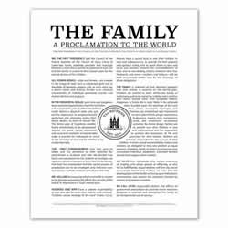 Personalized Temple Stamp Family Proclamation family proclamation, family proclamation to the world, the family proclamation, temple stamp proclamation custom family proclamation, personalized family proclamation